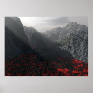 sun s rays thru volcanic haze poster