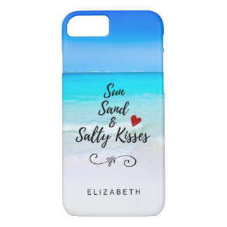 Sun Sand and Salty Kisses Tropical Beach Custom iPhone 8/7 Case