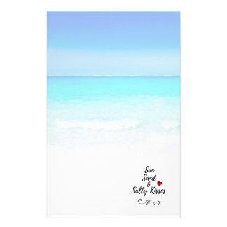 Sun Sand and Salty Kisses Tropical Beach Customized Stationery