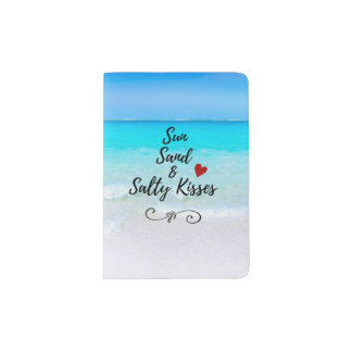 Sun Sand and Salty Kisses Tropical Beach Passport Holder