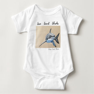 Sun Sand... Little Sharks! Baby Bodysuit