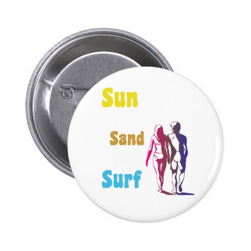 Sun, Sand, Surf Button