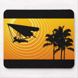 sun scene hang gliding mouse pad