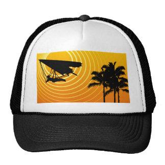 sun scene hang gliding trucker hats
