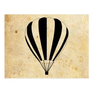sun scene hot air balloons postcards