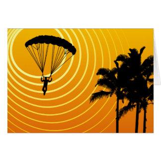 sun scene skydiver card