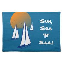 Sun, Sea 'N' Sail Coastal Yachts Placemats