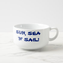 Sun, Sea 'N' Sail Coastal Yachts Soup Mug