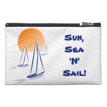 Sun, Sea 'N' Sail Coastal Yachts Travel Accessory Bags