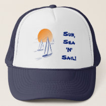 Sun, Sea 'N' Sail Coastal Yachts Trucker Hat