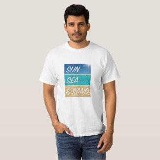 Sun, Sea & Sand Vacation Beach Summer Holiday T-Shirt