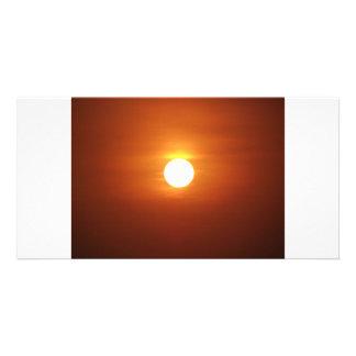 sun set customised photo card