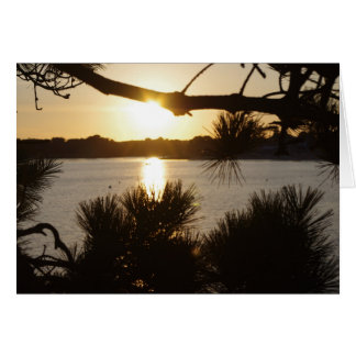 sun set in Brittany France greeting card