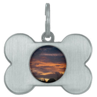 Sun set over Yorkshire Pet ID Tag