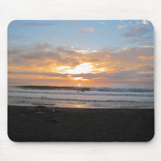 Sun Sets on Snoozing Elephant Seals Mouse Pad