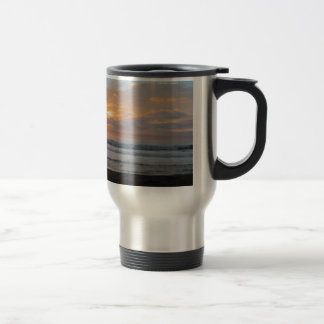 Sun Sets on Snoozing Elephant Seals Coffee Mug
