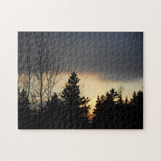 Sun Setting And Dark Clouds Puzzle