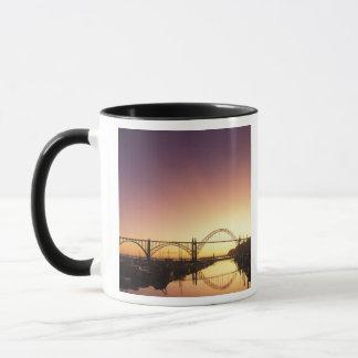 Sun setting behind the Newport Bridge, Oregon Mug