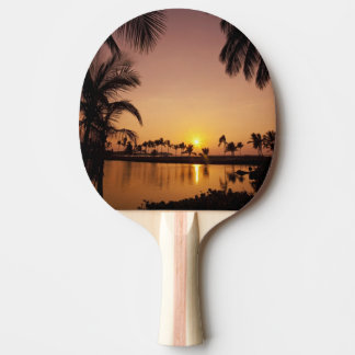 Sun setting on Anaeho'omalu Bay, Big Island,
