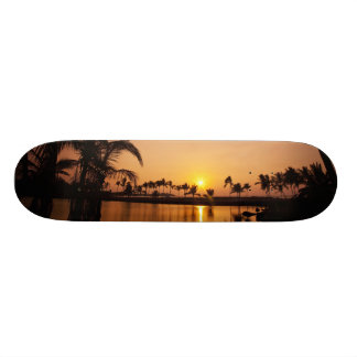 Sun setting on Anaeho'omalu Bay, Big Island, 19.7 Cm Skateboard Deck
