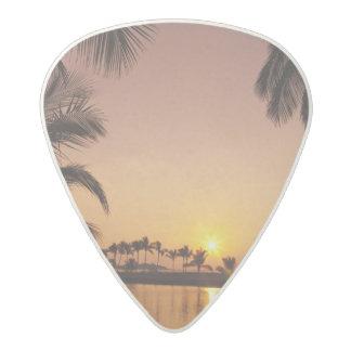 Sun setting on Anaeho'omalu Bay, Big Island, Acetal Guitar Pick