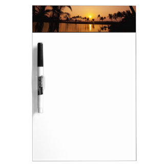 Sun setting on Anaeho'omalu Bay, Big Island, Dry Erase Board