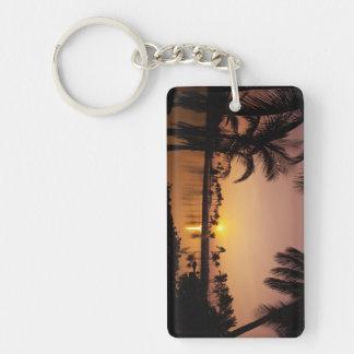 Sun setting on Anaeho'omalu Bay, Big Island, Key Ring