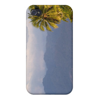 Sun Setting On Volcano With Tropical Beach iPhone 4/4S Case
