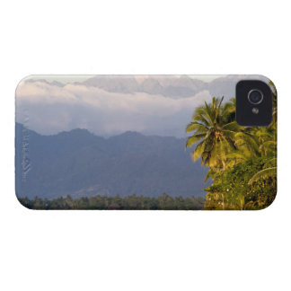 Sun Setting On Volcano With Tropical Beach iPhone 4 Case-Mate Case
