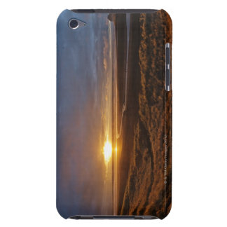 Sun setting over Tasman Sea and Piha Beach, West iPod Touch Cases