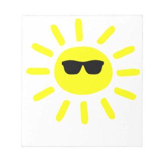 Sun Shades Sun Notepad