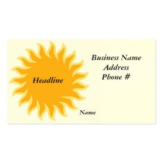 Sun shine business card