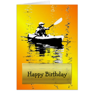 Sun Shine Kayak Happy Birthday Card