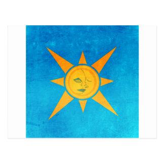 Sun Shining, Moon Sleeping--sun and moon symbol Postcard