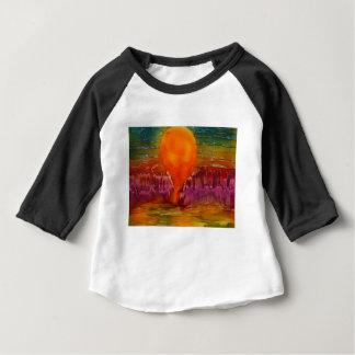 Sun shining on lake baby T-Shirt