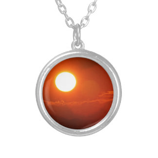 SUN SILVER PLATED NECKLACE