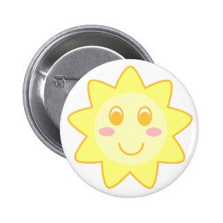 Sun Smiley 6 Cm Round Badge