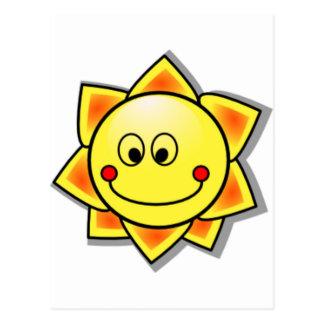 Sun Smiley, Happy Sun Postcard