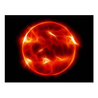 Sun Sol Star Sphere Postcard