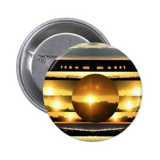 SUN - Source of Vital Energy 6 Cm Round Badge