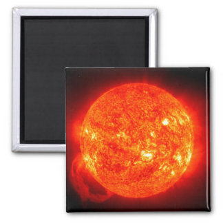 Sun Space Image Square Magnet