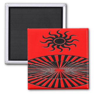 Sun Spirals Refrigerator Magnets