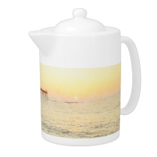 Sun Splash Aberystwyth Pier Teapot