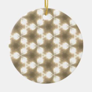 Sun spots1 round ceramic decoration