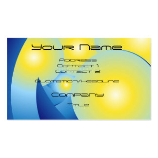 Sun Spots Abstract Business Card