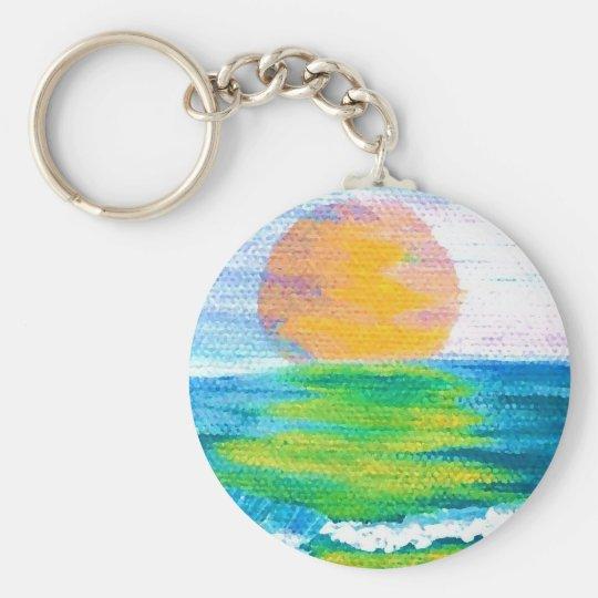 Sun Stance CricketDiane Ocean Art Design Products Basic Round Button Key Ring