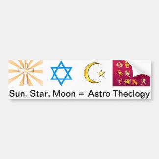 Sun, Star, Moon = Astro Theology Bumper Sticker