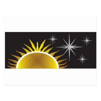 Sun Star Sky Postcard