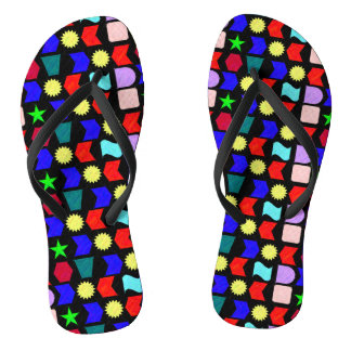 Sun Stars and Shapes Flip Flops