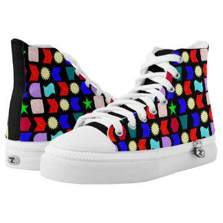 Sun Stars and Shapes High Tops